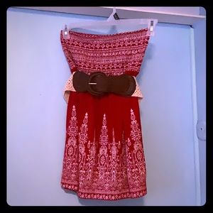 Tops - Red crock top with belt